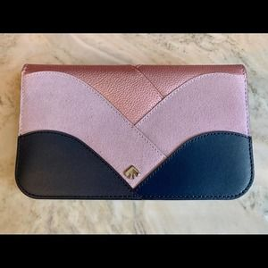 Kate Spade Nadine patchwork medium clutch wallet